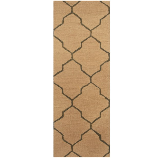 Hand-Tufted Beige/Gray Area Rug