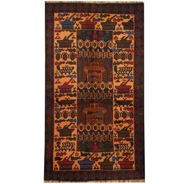Prentice Hand-knotted Blue Area Rug