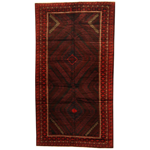 Prentice Hand-knotted Rust/Red Area Rug
