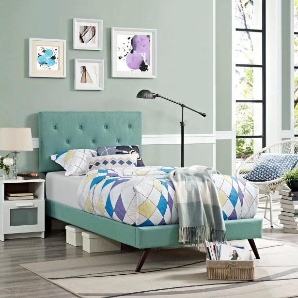 Ziemer Upholstered Platform Bed Color: Laguna, Size: King