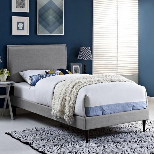 Sardina Upholstered Platform Bed Color: Laguna, Size: Full