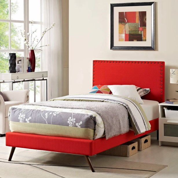 Preiss Upholstered Platform Bed Size: Twin, Color: Wheatgrass