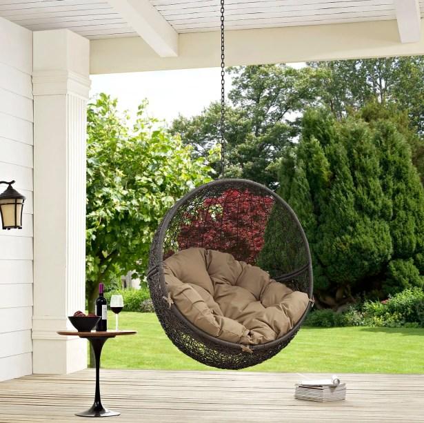 Hide Swing Chair Color: Gray/Beige