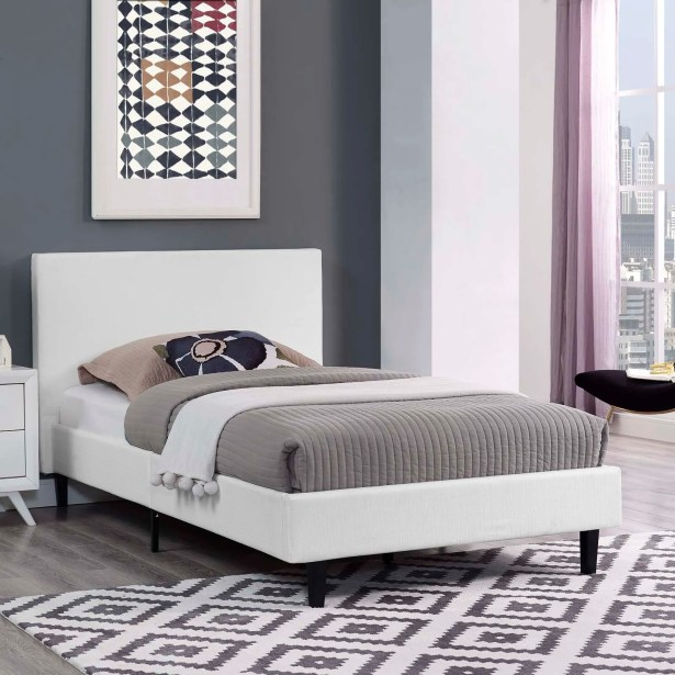 Tafolla Bed Frame Size: Twin, Color: White
