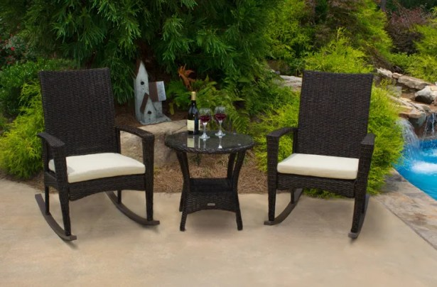 Lowell Bayview 3 Piece Conversation Set with Cushions Frame Color: Pecan