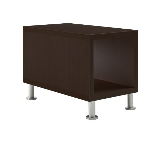 Jenny� End Table Leg Type / Color: Brushed Aluminum, Laminate Color: Low Pressure Laminate - Marbled Cherry