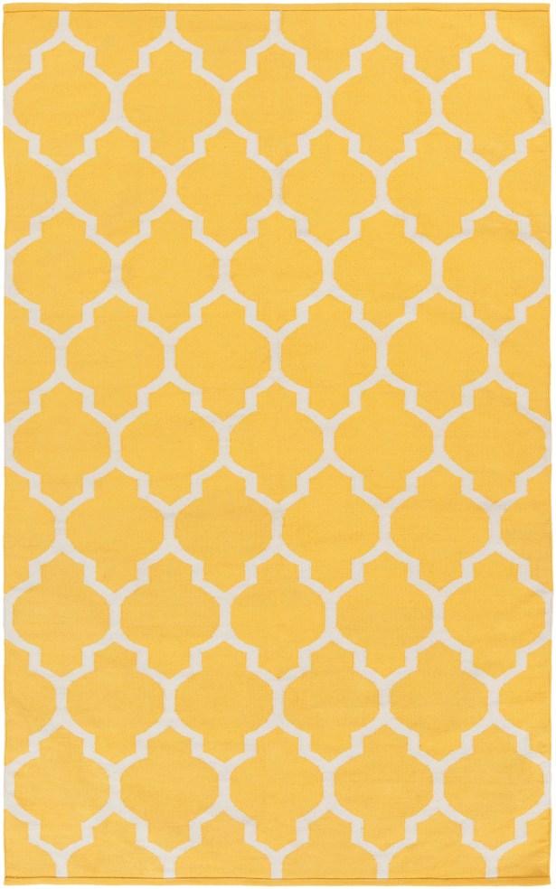 Bohannon Handmade Yellow Geometric Area Rug Rug Size: Rectangle 5' x 8'