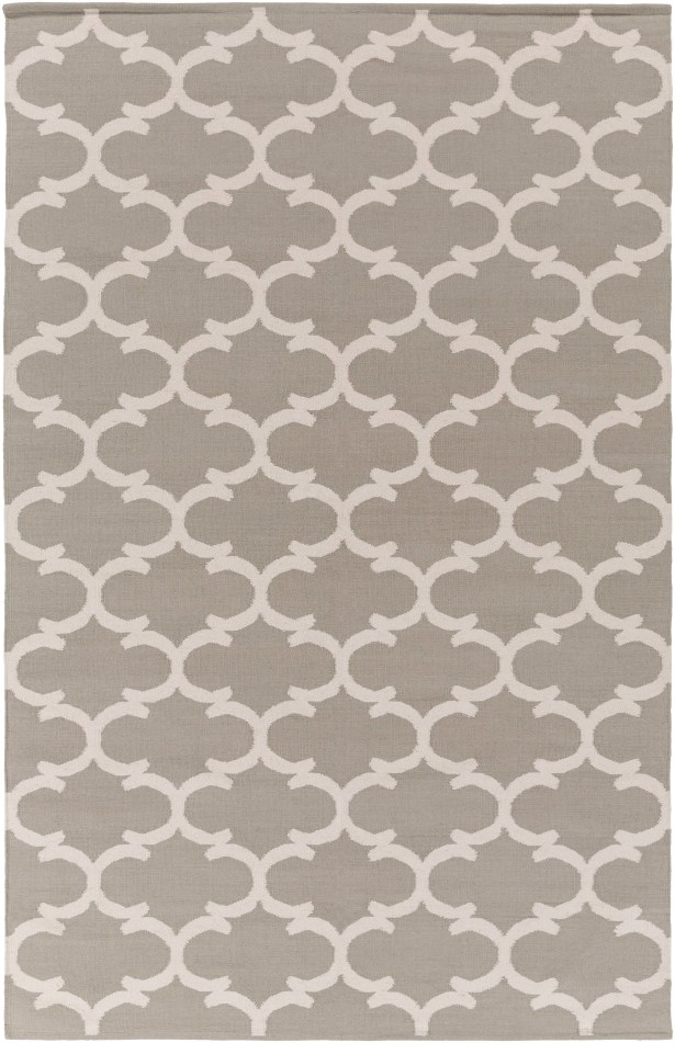 Ayles Gray & Ivory Area Rug Rug Size: Rectangle 5' x 7'6