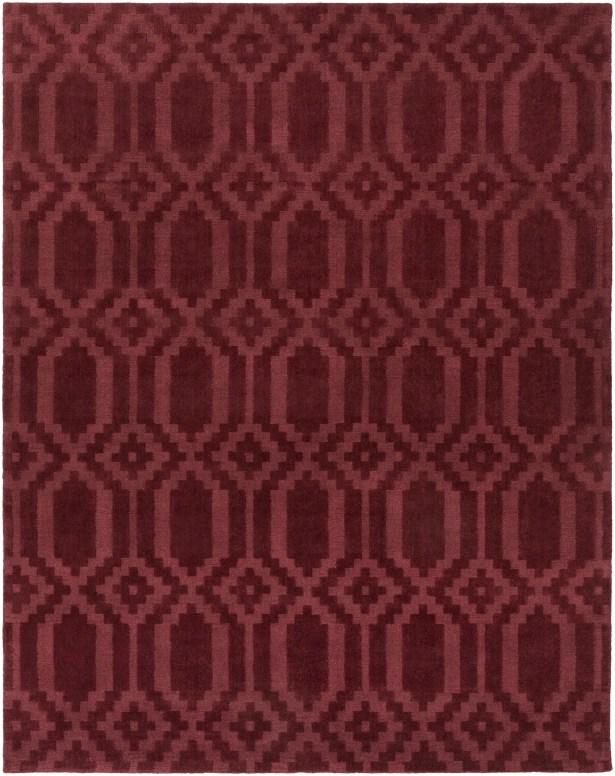 Brack Hand-Loomed Burgundy Area Rug Rug Size: Rectangle 8' x 10'