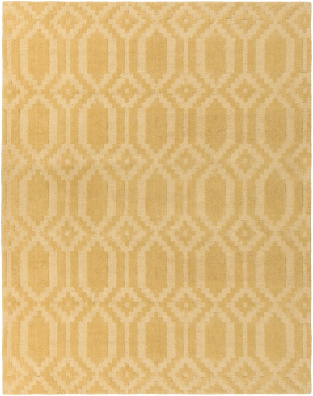 Brack Hand-Loomed Yellow Area Rug Rug Size: Rectangle 5' x 7'6