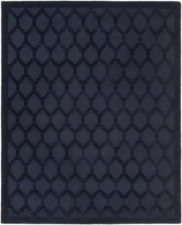 Bracey Hand-Loomed Navy Area Rug Rug Size: Rectangle 8' x 10'