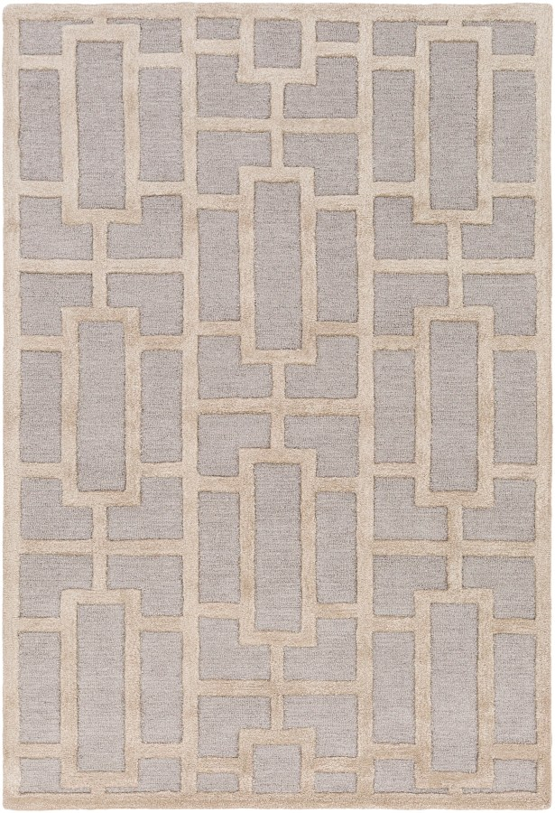Perpetua Hand-Tufted Light Blue/Beige Area Rug Rug Size: Rectangle 7'6