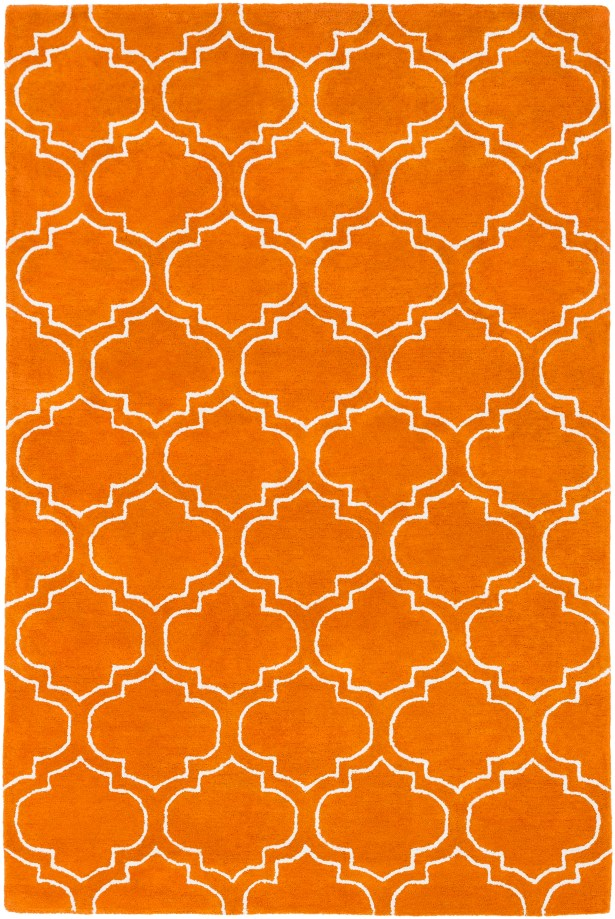 Shandi Hand-Tufted Wool Orange Area Rug Rug Size: Rectangle 8' x 11'