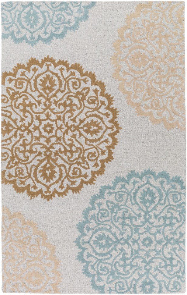 Couture Hand Tufted Ivory/Blue Area Rug Rug Size: Rectangle 4' x 6'
