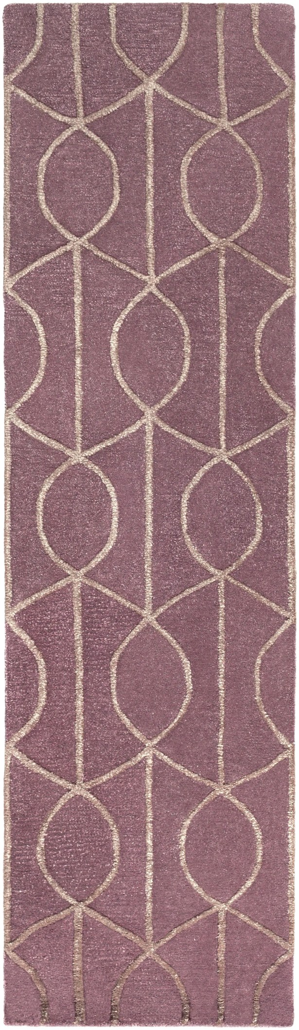 Abbey Hand-Tufted Purple Area Rug Rug Size: Runner 2'3