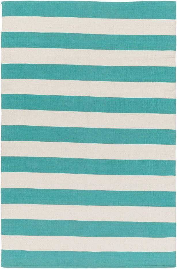 Cybulski Handmade Aqua Blue/Ivory Area Rug Rug Size: Rectangle 8' x 10'