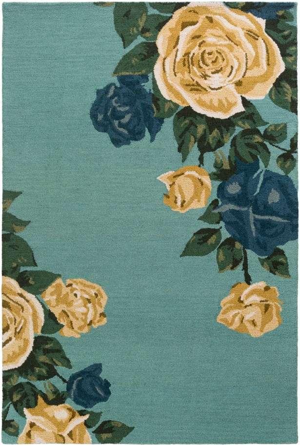 Lacasse Hand-Tufted Mint Area Rug Rug Size: Rectangle 4' x 6'