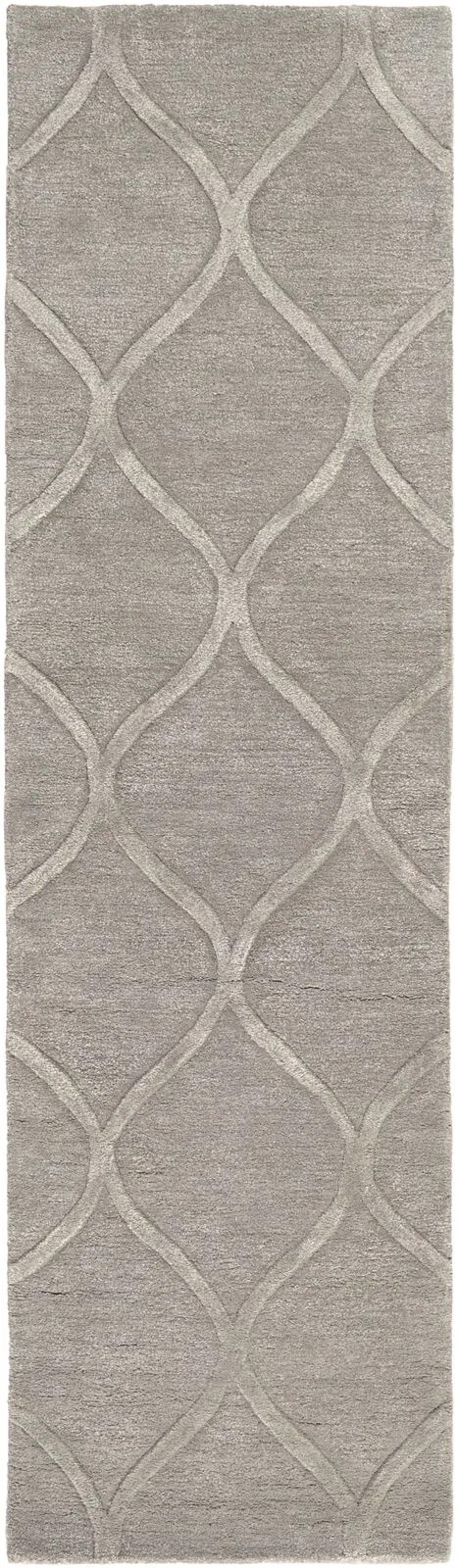 Bronaugh Hand-Tufted Light Gray Area Rug Rug Size: Runner 2'3