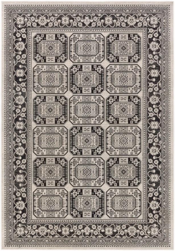 Keeton Onyx Black/Charcoal Area Rug Rug Size: Rectangle 5'3