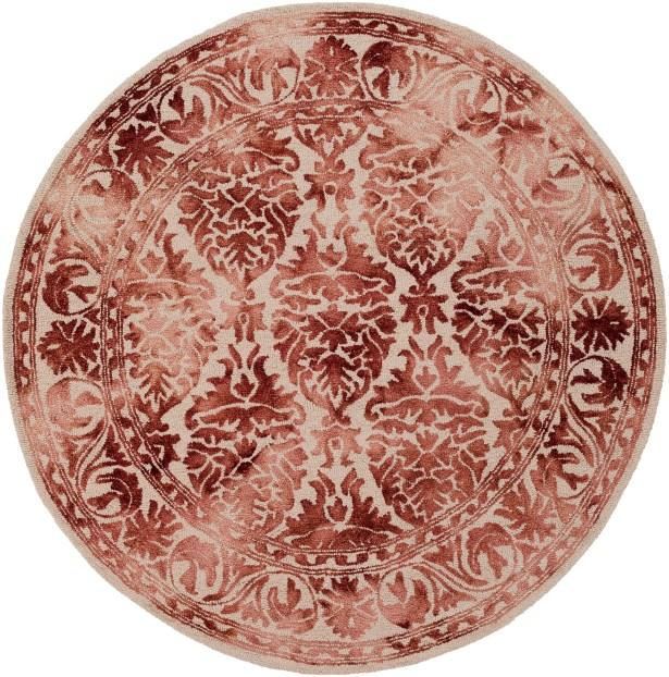 Henricks Hand Tufted Burgundy/Off-White Area Rug Rug Size: Rectangle 9' x 13'
