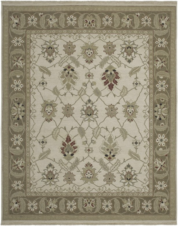 Cowden Ivory/Chocolate Area Rug Rug Size: 9' x 12'