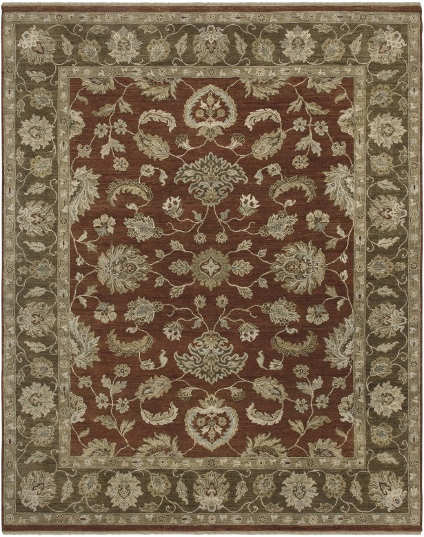 Grant Red Hand-Knotted Area Rug Rug Size: 10' x 14'