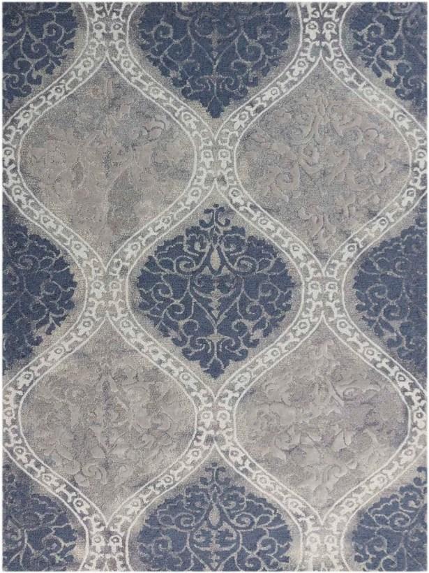 Pavilion Hand-Tufted Gray/Blue Sand Area Rug Rug Size: Rectangle 7'6