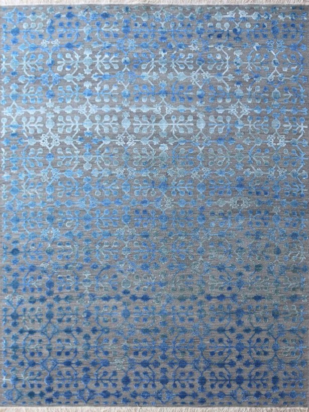 Chipping Campden Hand-Tufted Blue Area Rug Rug Size: Rectangle 9' x 12'