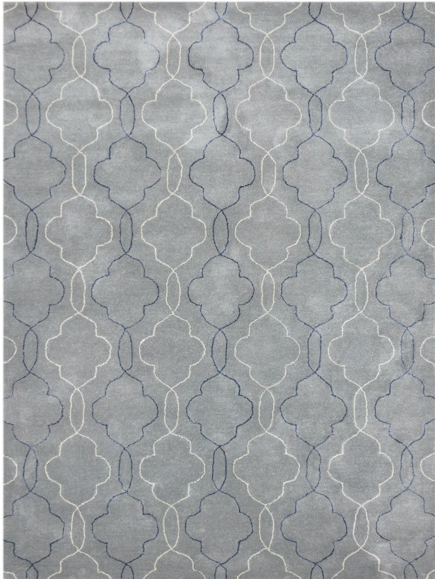 Kamena Hand-Tufted Gray/Blue Area Rug Rug Size: 7'6