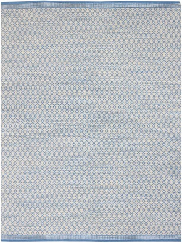 Latimer Modern Hand-Woven Blue Area Rug Rug Size: Rectangle 8' x 10'