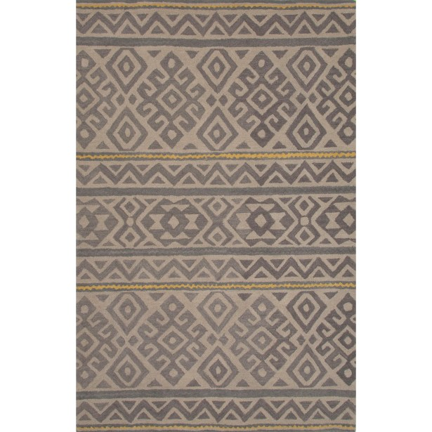Ferro Hand Tufted Wool Overcast Area Rug Rug Size: 8' x 11'