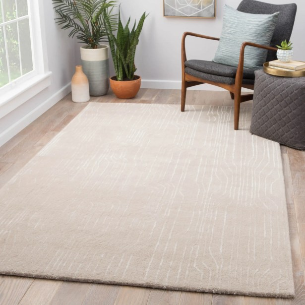 Vector Hand Tufted Light Gray Area Rug Rug Size: Rectangle 9'6