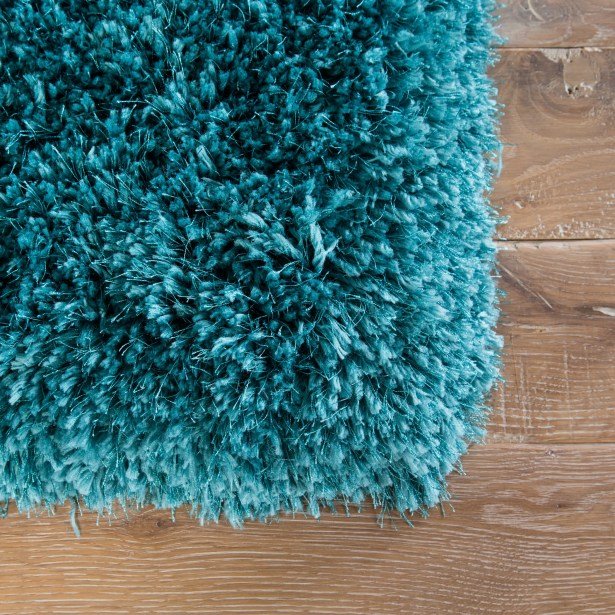 Orion Shag And Flokati Teal Area Rug Rug Size: Rectangle 9' x 13'