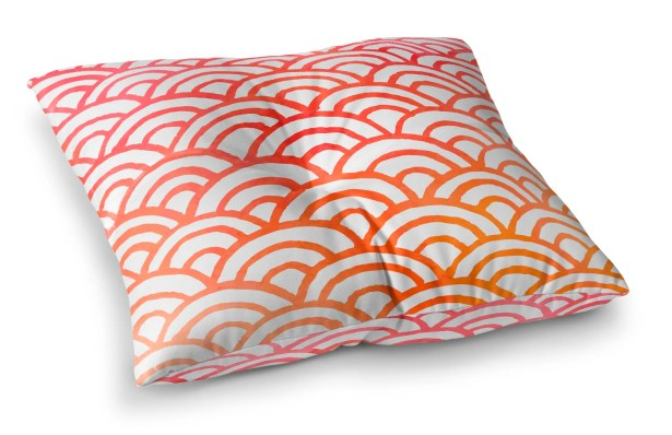 Corvally Scallop Outdoor Floor Pillow Size: 6