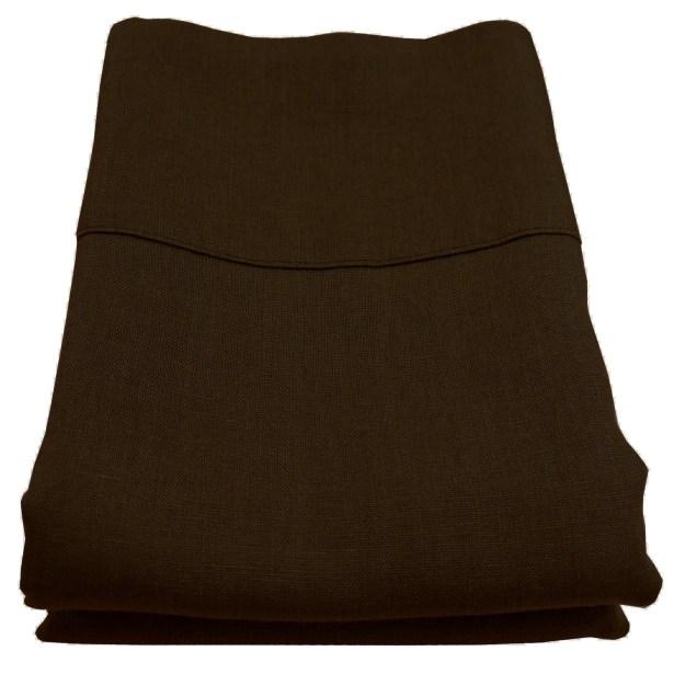 Linen Pillowcase Size: King, Color: Espresso
