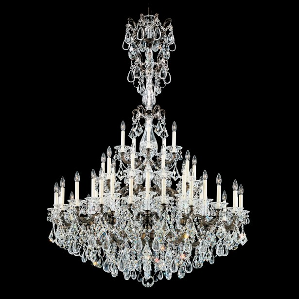 La Scala 45-Light Candle Style Chandelier Finish: Heirloom Bronze, Crystal Type: Spectra Clear