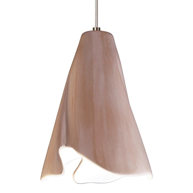Flora 1-Light Cone Pendant Finish: Tan, Canopy and Transformer: With