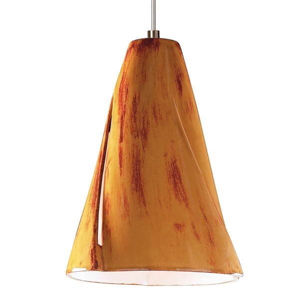 Whirl 1-Light Cone Pendant Finish: Desert Blaze, Canopy and Transformer: With