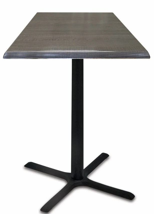 Bar Table Top Finish: Charcoal, Tabletop Size: 36