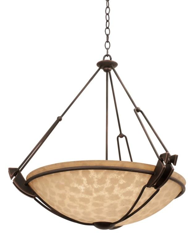 Grande 6-Light Bowl Pendant Finish: Antique Copper, Shade Type: Buddha Leaf