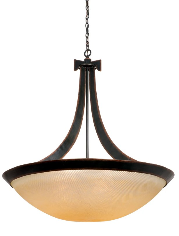 Copenhagen 6-Light Bowl Pendant Finish: Antique Copper, Shade Type: Ecru