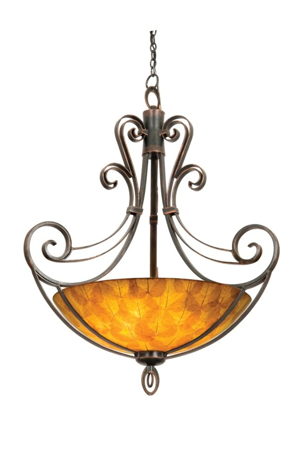 Mirabelle 6-Light Bowl Pendant Finish: Antique Copper, Shade Type: Ecru