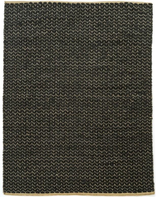 Natalee Hand Woven Black Area Rug Rug Size: Rectangle 4'10