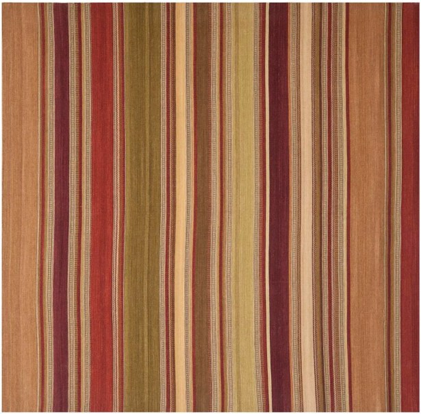 Striped Kilim Hand-Woven Wool Area Rug Rug Size: Rectangle 6' x 9'
