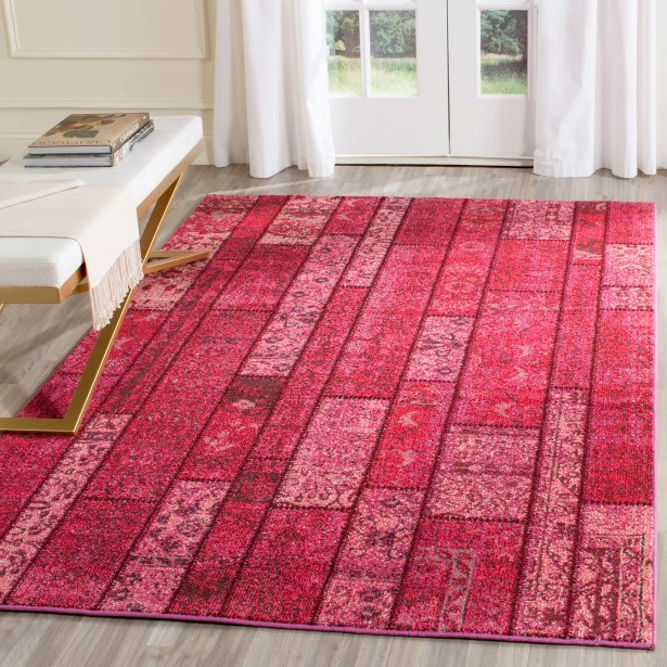 Pink Area Rug Rug Size: Rectangle 4' x 5'7