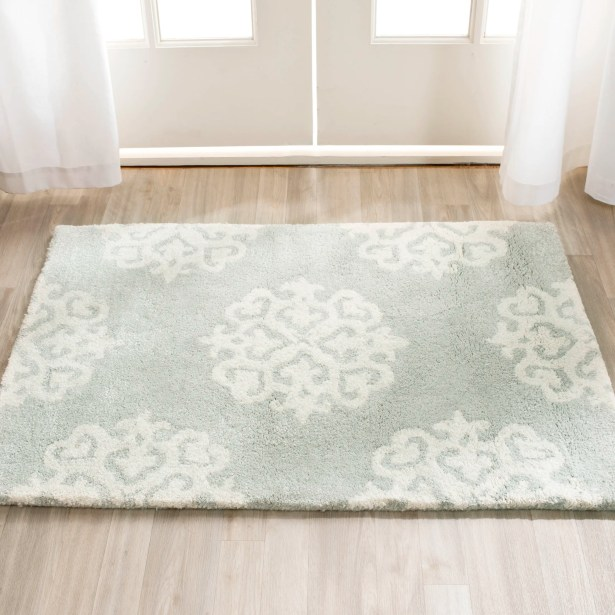 Backstrom Hand-Tufted Gray/Ivory Area Rug Rug Size: Rectangle 9' x 12'