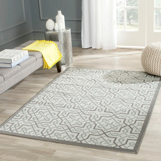 Poole Light Gray/Anthracite Indoor/Outdoor Area Rug Rug Size: Rectangle 5'3
