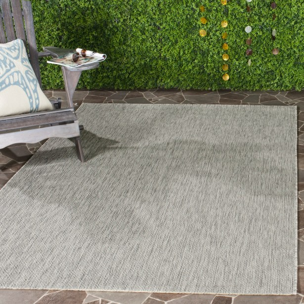 Davy Gray Indoor/Outdoor Area Rug Rug Size: Rectangle 5'3
