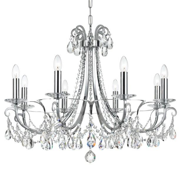 Shreyas 8-Light Chandelier Crystal Grade: Swarovski Strass