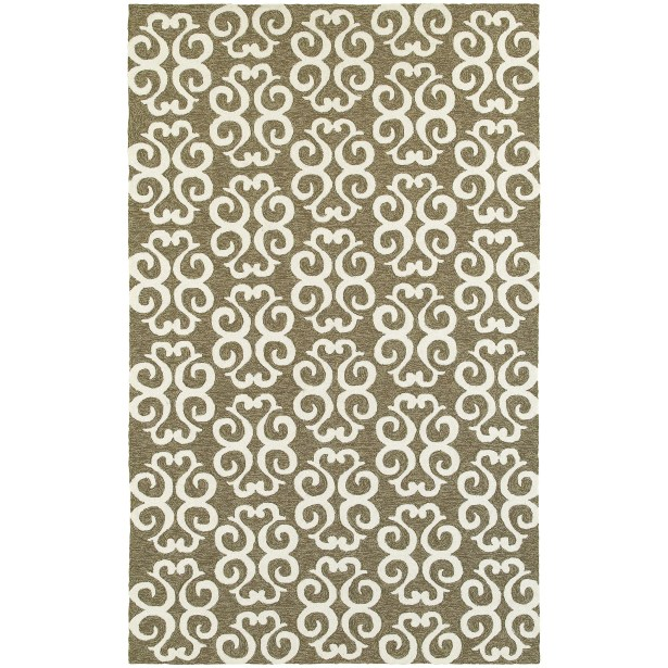 Atrium Scroll Work Brown/Ivory Indoor/Outdoor Area Rug Rug Size: Rectangle 8' x 10'